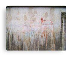 Haus im Regen Canvas Print