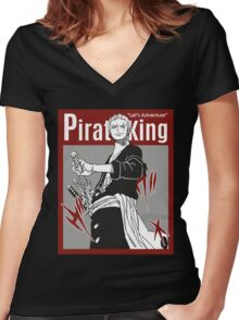 PIRATE KING 8 Women's Fitted V-Neck T-Shirt
