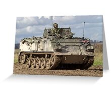 A British Army FV432 Armoured Personnel Carrier Greeting Card