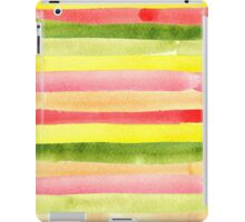 Watercolor colorful stripes seamless background. iPad Case/Skin