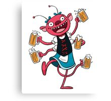Marzen Beer Monster Canvas Print