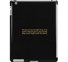 "The best and... ""Helen Keller"" Inspirational Quote iPad Case/Skin"