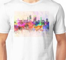 Indianapolis skyline in watercolor background Unisex T-Shirt
