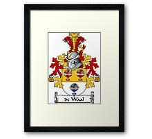 de Waal Coat of Arms (Dutch) Framed Print