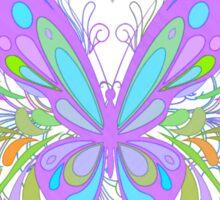 Ornate Purple Butterfly Art Sticker
