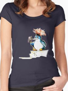 Penguin Punk Women's Fitted Scoop T-Shirt