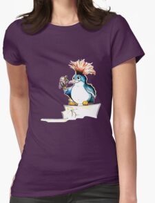Penguin Punk Womens Fitted T-Shirt