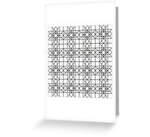 Abstract geometric pattern  Greeting Card