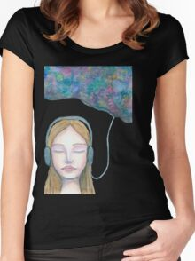 Sound Cloud Women's Fitted Scoop T-Shirt