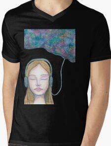 Sound Cloud Mens V-Neck T-Shirt