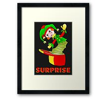SURPRISE Jack in the Box Framed Print