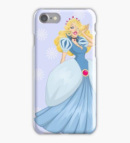 Princess Cinderella In Blue Dress iPhone Case/Skin