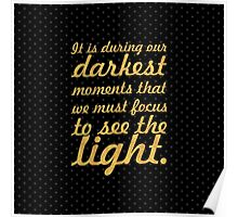 """It is during our... """"Aristotle onassis"""" Inspirational Quote (Square) Poster"""