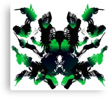 Rorschach Green Canvas Print