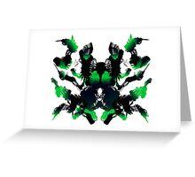 Rorschach Green Greeting Card