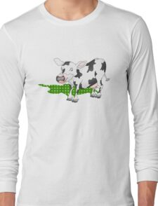 Cow Casting a Green Shadow Long Sleeve T-Shirt