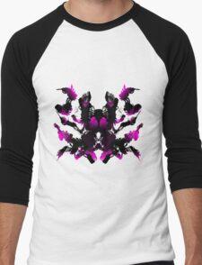 Rorschach Pink Men's Baseball ¾ T-Shirt