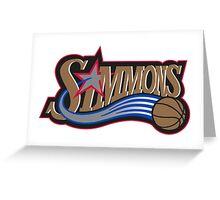 Ben Simmons Logo T-Shirt Greeting Card
