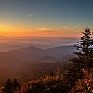 Sunrise Over the Smoky's V by Douglas  Stucky