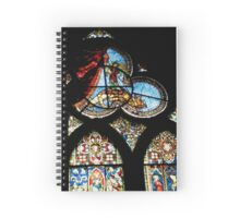 Stained Glass Church Window Spiral Notebook