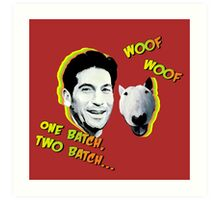 Jon Bernthal & Bull Terrier  Art Print