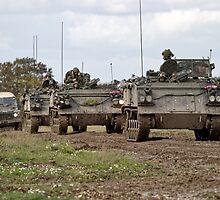 A convoy of British Army FV432 Armoured Personnel Carriers  by Andrew Harker