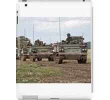 A convoy of British Army FV432 Armoured Personnel Carriers  iPad Case/Skin