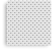 Triangles pattern in black and white Canvas Print