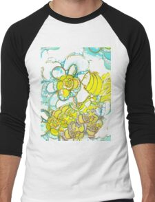 Yellow Winged Flower Fairy  Men's Baseball ¾ T-Shirt
