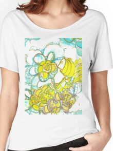 Yellow Winged Flower Fairy  Women's Relaxed Fit T-Shirt