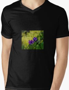 Blue and purple simplicity Mens V-Neck T-Shirt
