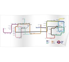 Pokemon - London Underground Magnet Train Map Poster