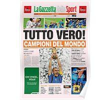 Italia 2006 campione gazzetta world champion Poster