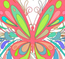 Colorful Artistic Butterfly Art Sticker