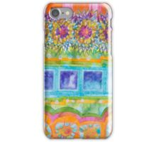Square and Flower Lines Pattern iPhone Case/Skin