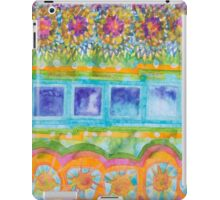 Square and Flower Lines Pattern iPad Case/Skin