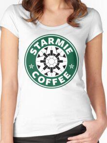 Starmie Coffee - Pokemon Starbucks (white) Women's Fitted Scoop T-Shirt