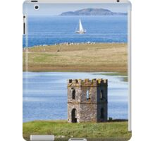 North Uist, Outer Hebrides, Scotland Folly with yacht at sea iPad Case/Skin