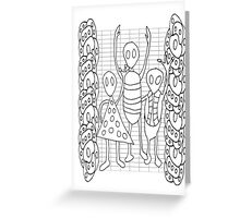 Alien Hello Greeting Card