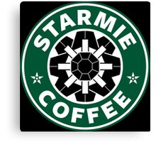 Starmie Coffee - Pokemon Starbucks (black) Canvas Print