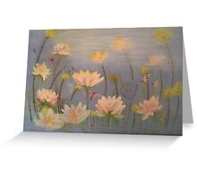 Beautiful lotus, serenity. Greeting Card