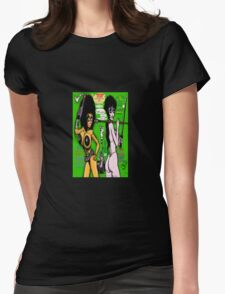 Space Chick & Nympho: Vampire Warrior Party Girl Comix #1 - Comic Book Cover Womens Fitted T-Shirt