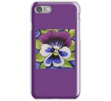 Purple Pansy iPhone Case/Skin