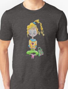 Purse Girl with Flower Unisex T-Shirt