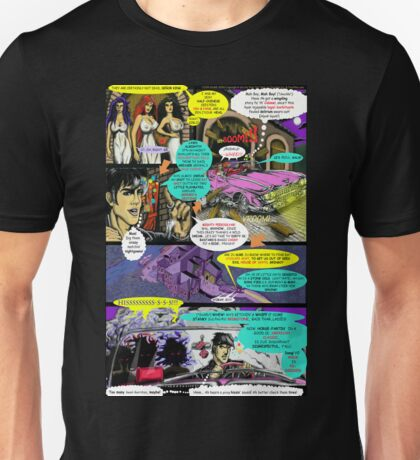 """Code Name: King #2"" Comic Book Page Art - 'No Horse Fartin' in The Caddy' Unisex T-Shirt"