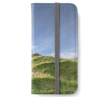 sheep atop a hillock is the king of the castle. iPhone Wallet/Case/Skin