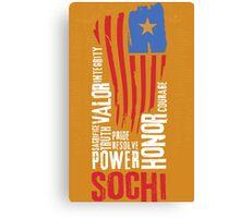 Sochi Flag Canvas Print