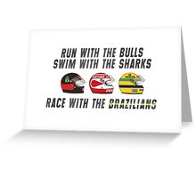 F1 BRAZILIAN HEROES (1) Greeting Card