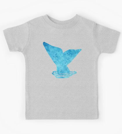 Whale Tail Watercolor Art Kids Tee