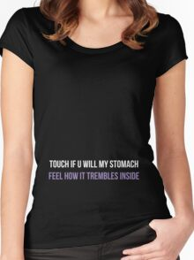 Prince - Touch If U Will My Stomach Women's Fitted Scoop T-Shirt